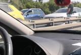 Stłuczka przed Osową w kierunku Gdyni, lewy pas stoi