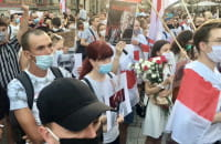 Solidarni z Białorusią - protest w Gdańsku