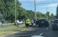 Wypadek na al. Niepodległości w kierunku Gdańska