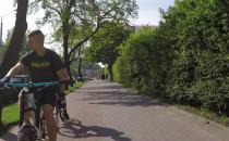 Blisko czołówki z rowerzystą