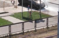 Pożar auta na rogu ul. Kartuskiej i Ciasnej