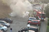 Niedzielny pożar auta na Chełmie