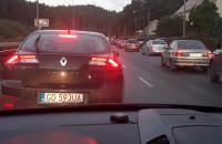 Duży korek na Słowackiego po wypadku