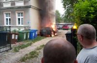 Pożar auta w Oliwie