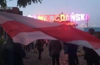 Wiec poparcia dla Białorusinów pod Stocznią Gdańską