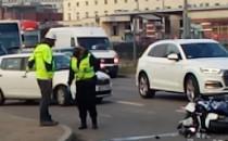 Potrącony motocyklista w Gdańsku