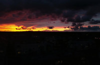 Zachód słońca Gdynia Wiczlino