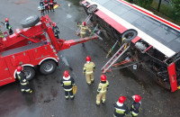 Ćwiczenia strażaków w Gdańsku