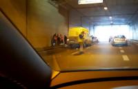 Skutki wypadku w tunelu