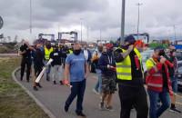 Protest pracowników DCT Gdańsk