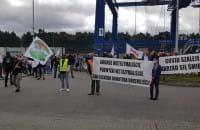 Postulaty protestujących pod DCT Gdańsk