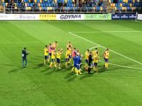 Arka Gdynia - Puszcza Niepołomice 3:2. Podziękowania po meczu