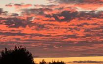 Niezwykły wschód słońca nad Gdańskiem