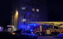 Interwencja Strazy Pożarnej na ul. Rozewskiej