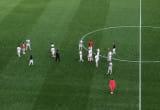 Piłkarze Lechii schodzą z boiska po meczu ze Stalą Mielec
