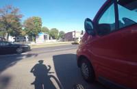 Niebezpieczna sytuacja na ścieżce rowerowej