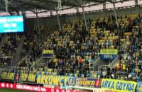 Radość arkowców po golu na 3:0 z Miedzią Legnica