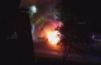 Pożar auta dostawczego przy ul. Młyńskiej w Gdyni