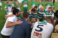 Rugbyści Lechii cieszą się po wygranej z Arką Gdynia