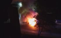 Pożar auta dostawczego przy ul. Młyńskiej...