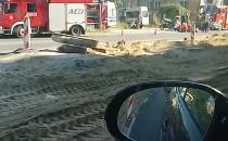 Wypadek z udziałem motocyklisty na al....