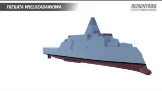 Fregata wielozadaniowa - projekt Remontowa Marine Design