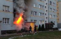 Pożar na parterze ul. Wejhera 13 na Żabiance