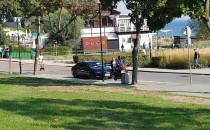 Straż miejska przy prezydenckiej limuzynie...