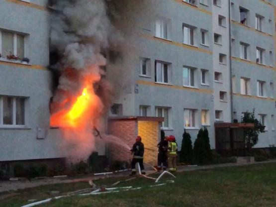 Pożar na parterze ul. Wejhera