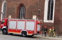 Straż pożarna pod kościołem św. Katarzyny