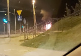 Pożar auta w Gdyni