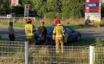 Skutki pożaru auta na obwodnicy na wys....