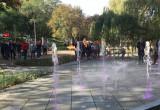 Pierwszy pokaz fontanny w Parku Centralnym