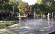Pierwszy pokaz fontanny w Parku Centralnym...