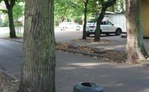 Kamienie przeciwko parkującym na trawnikach