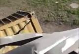 Kontener spadł z estakady Kwiatkowskiego