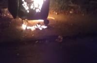 Pożar śmietników w Nowym Porcie