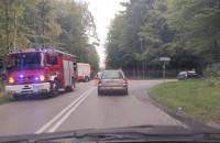 Stłuczka na skrzyżowaniu ul. Marszewskiej z Wiczlinską