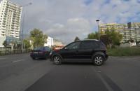 Kierowca zablokował drogę rowerową