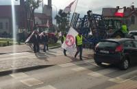 Protest rolników na rondzie w Chwaszczynie