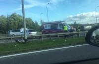 Wypadek na obwodnicy na wysokości Auchan