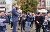 Manifestacja antycovidowców w Gdańsku