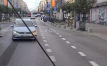 Jazda za trolejbusem Świętojańską pod prąd