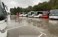 Protest przewoźników w Gdyni