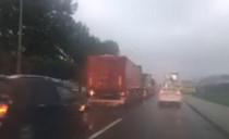 Korek ciężarówek do portu w Gdyni na Janka...
