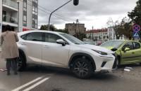 Skutki kolizji na skrzyżowaniu Reja i Legionów w Gdyni