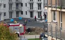 Niewielki pożar na ul. Olimpijskiej w Gdańsku