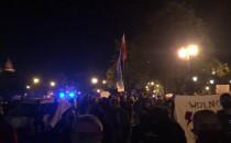 Trwa strajk kobiet także na Targu Drzewnym...