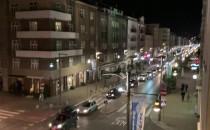 Strajk samochodowy w Gdyni na Świętojańskiej