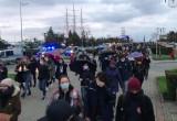 Protest na skwerze w Gdyni